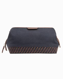Laced Canvas & Leather Dopp Kit