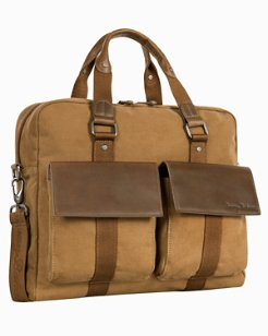 Palawan Canvas & Leather Briefcase