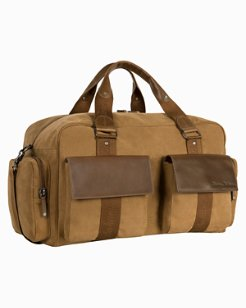 Palawan Canvas & Leather Weekender Bag
