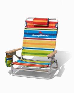 Multi Stripe Breezy Backpack Beach Chair