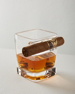 Corkcicle Cigar Rest Whiskey Wedge Glass