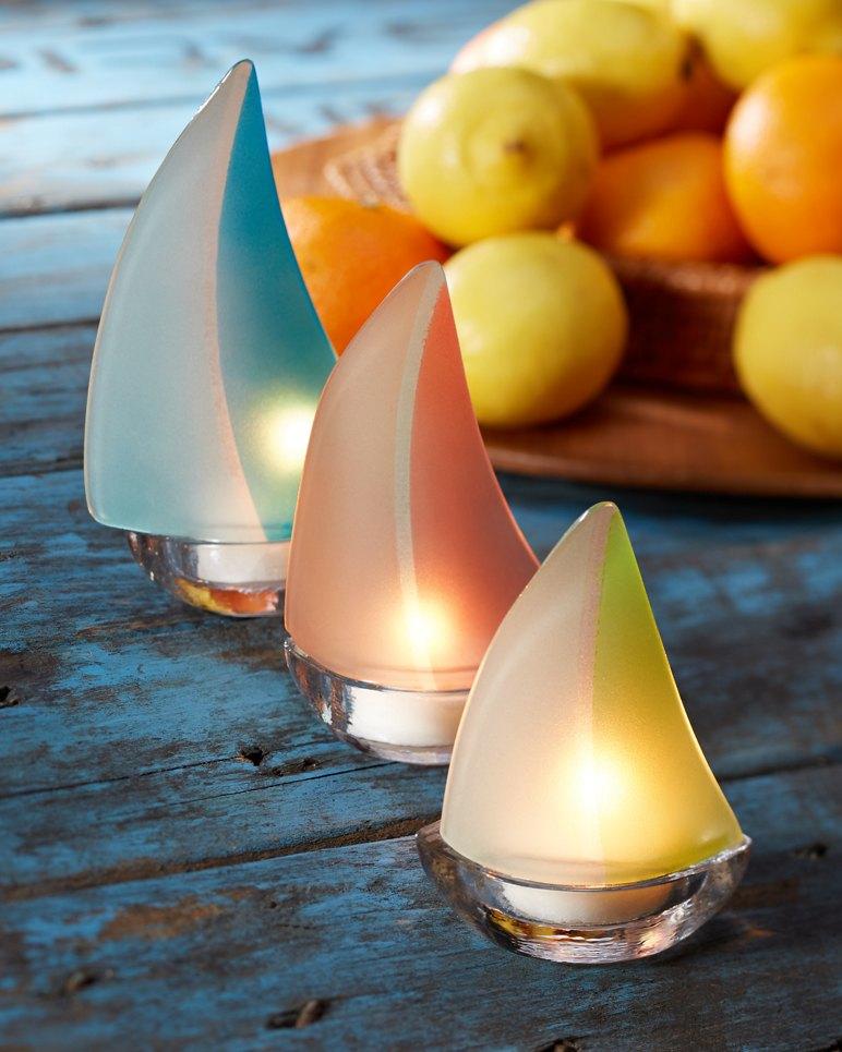 Main Image for Sailboat Tealight Holders - Set of Three