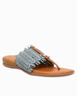 André Assous Niviya Woven Thong Sandal