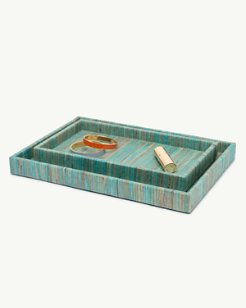 Water Hyacinth Tray Set