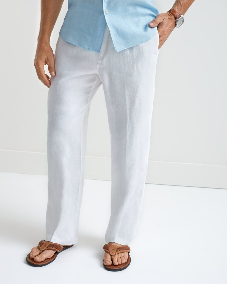 Big Amp Tall Linen On The Beach Easy Fit Pants