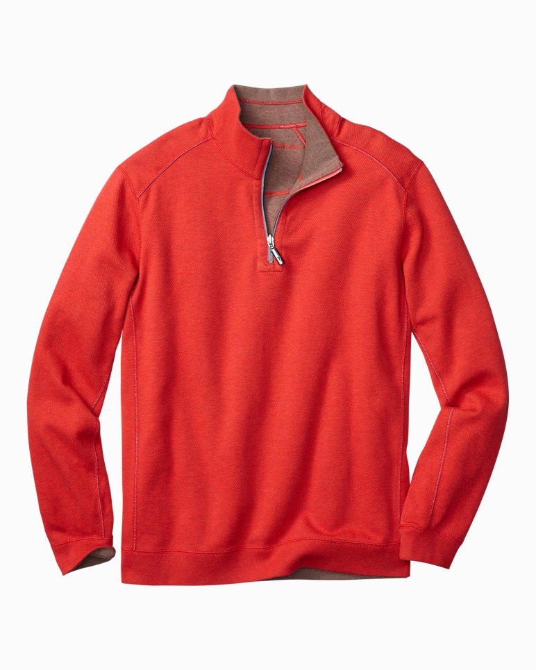 outlet store f8591 5b9a2 Big & Tall Flip Side Twill Reversible Half-Zip Sweatshirt