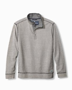 Big & Tall Ocean Mist Snap Mock-Neck Sweatshirt