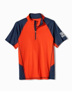Big & Tall IslandActive™ Colorblock Beach Pro Half-Zip Shirt