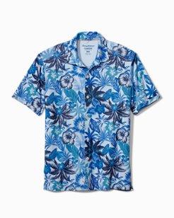 Big & Tall Fuego Floral IslandZone® Knit Camp Shirt
