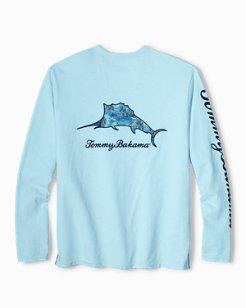 Big & Tall Palm Billboard Marlin Lux Long-Sleeve T-Shirt