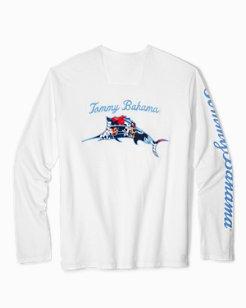 Big & Tall Hula Holiday Marlin Lux Long-Sleeve T-Shirt