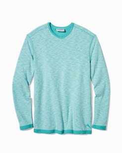 Big & Tall Sea Glass Reversible V-Neck Sweatshirt