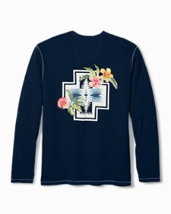 Tommy Bahama & Pendleton® Big & Tall Aloha Harding Long-Sleeve Lux T-Shirt