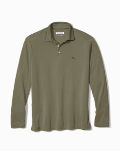 Big & Tall Long-Sleeve Coastal Crest IslandZone® Polo