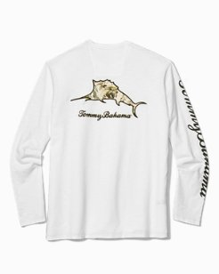 Big & Tall Don't Leaf Me Now Marlin Lux Long-Sleeve T-Shirt