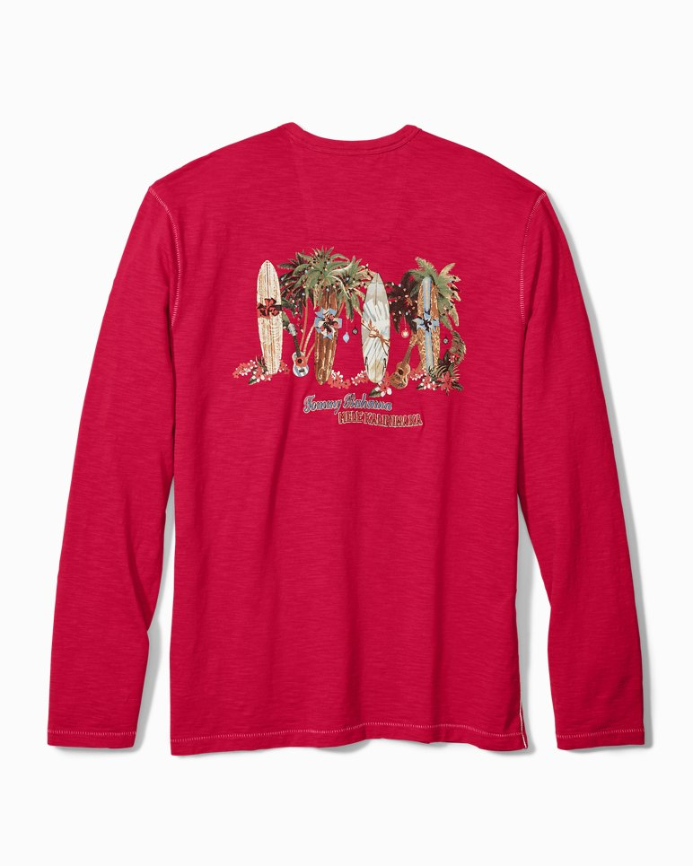 Main Image for Big & Tall Mele Kalikimaka Long-Sleeve Lux T-Shirt
