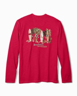 Big & Tall Mele Kalikimaka Long-Sleeve Lux T-Shirt