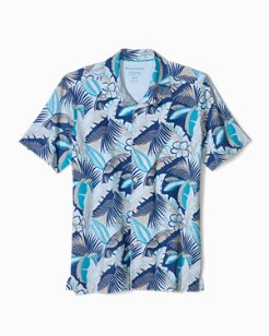 Big & Tall Flamenco Fronds IslandZone® Knit Camp Shirt
