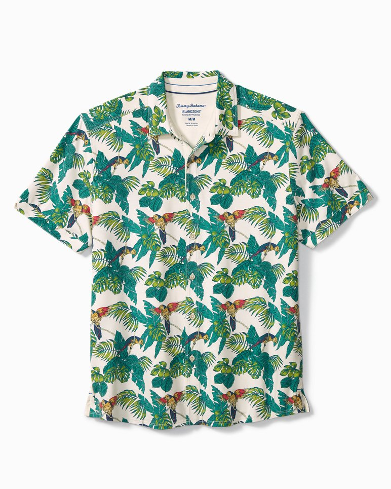 Main Image for Big & Tall 24 Parrot Fronds IslandZone® Knit Camp Shirt