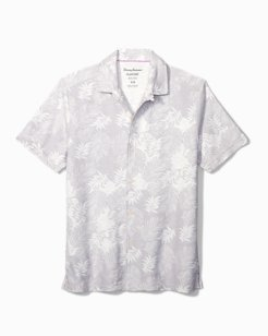 Big & Tall Falling Fronds IslandZone® Knit Camp Shirt