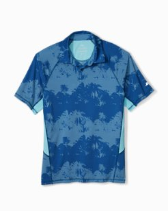 Big & Tall IslandZone® Pixel Palms Polo