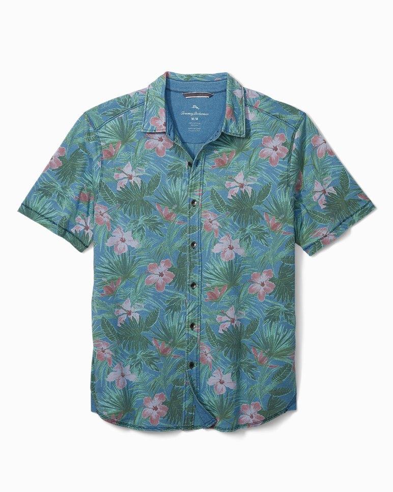 Main Image for Big & Tall Indigo Jungle Topia Knit Camp Shirt