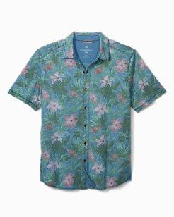 Big & Tall Indigo Jungle Topia Knit Camp Shirt