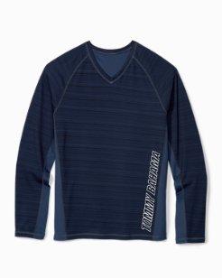 Big & Tall IslandActive® Fast Flip Reversible V-Neck Shirt