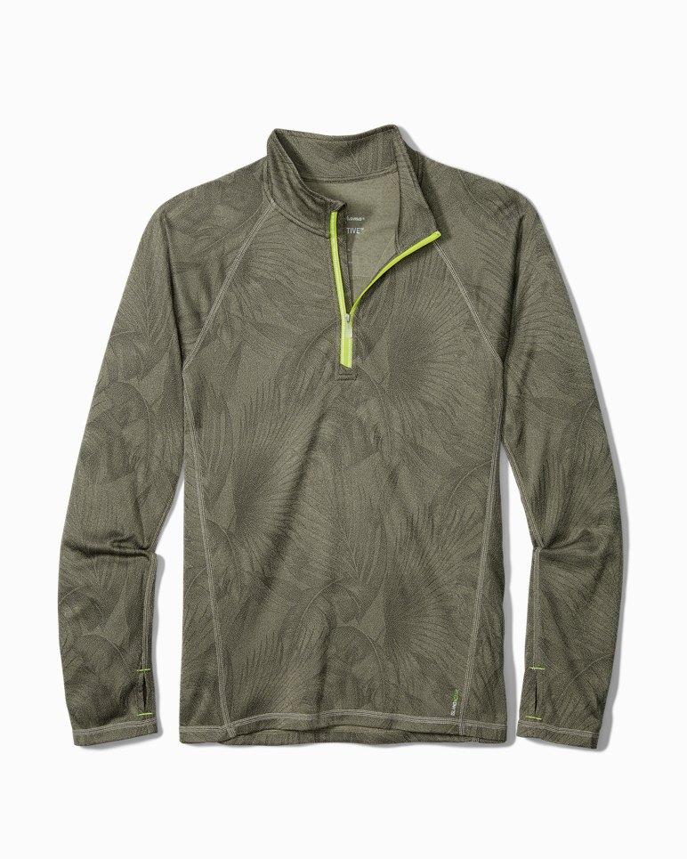 Main Image for Big & Tall IslandZone® Forte Fronds Half-Zip Sweatshirt