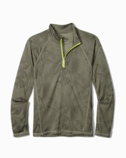 Big & Tall IslandZone® Forte Fronds Half-Zip Sweatshirt