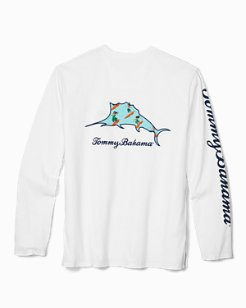 Big & Tall Hula-Gals Billboard Marlin Long-Sleeve T-Shirt
