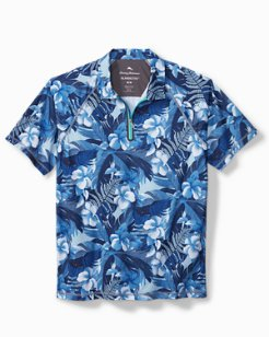 Big & Tall Hibiscus Hues IslandActive® Polo