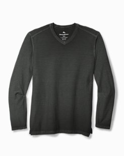 Big & Tall Cirrus Coast V-Neck Long-Sleeve Shirt