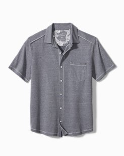 Big & Tall Bodega Cove IslandZone® Knit Camp Shirt