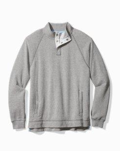 Big & Tall Cedar Springs Snap-Mock Sweatshirt