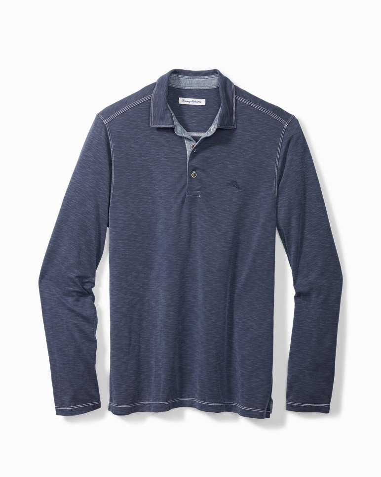 Main Image for Big & Tall Palmetto Paradise Long-Sleeve Polo