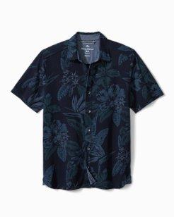 Big & Tall Indigo in Paradise Knit Camp Shirt