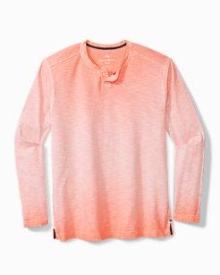 Big & Tall Suncoast Shores Abaco Long-Sleeve Henley Shirt