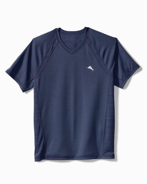Big & Tall Palm Coast IslandZone® Flip Reversible V-Neck Shirt