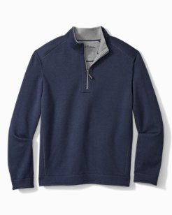 Big & Tall Flipshore Half-Zip Reversible Sweatshirt