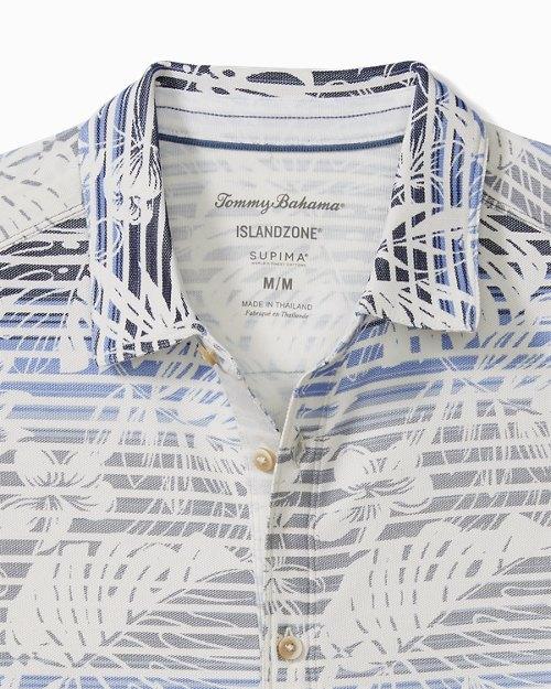 Big &Tall Sardinia Seas IslandZone® Knit Camp Shirt