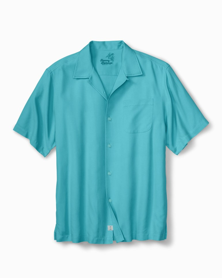 Big tall catalina twill camp shirt for Tommy bahama catalina twill silk camp shirt