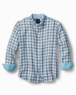 Big & Tall Thira Check Linen Shirt