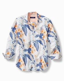 Big & Tall Livia Leaves Linen-Blend Shirt