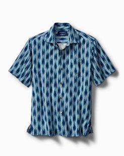 Big & Tall Ikat On A Hot Tin Roof IslandZone® Camp Shirt