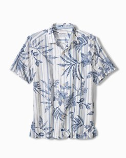 Big & Tall Indigo Vines Camp Shirt