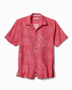 Big & Tall Micro Line Floral Camp Shirt