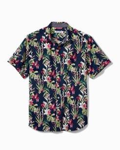 Big & Tall San Matera Gardens Stretch-Cotton Camp Shirt
