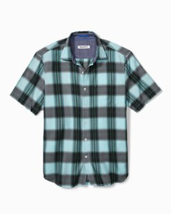 Big & Tall Biscayne Plaid Camp Shirt