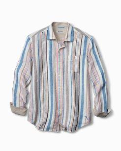 Big & Tall Raffia Stripe Linen Shirt